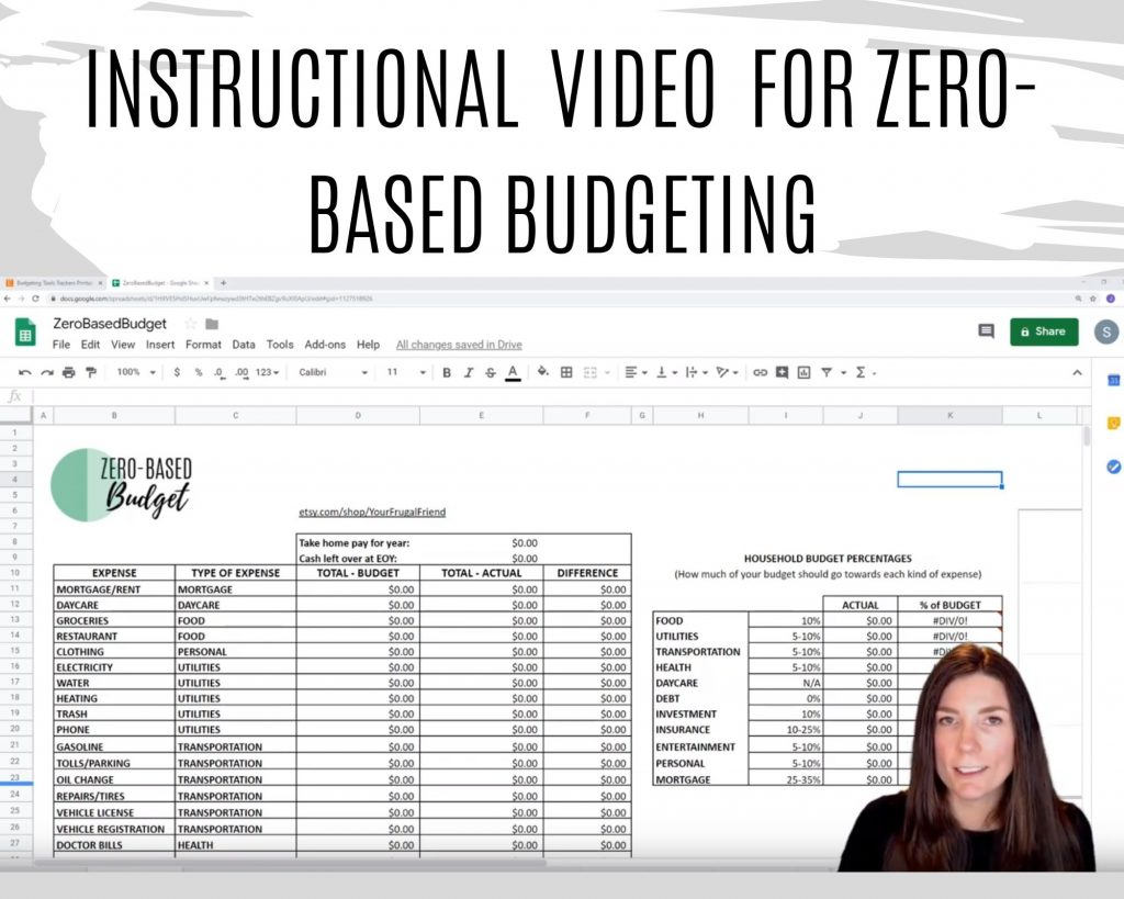 Dave Ramsey budget instructional video