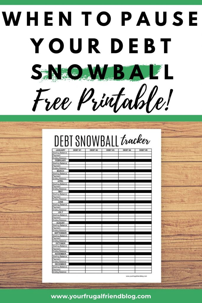When to Pause a Debt Snowball