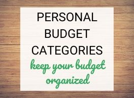 Personal Budget Categories