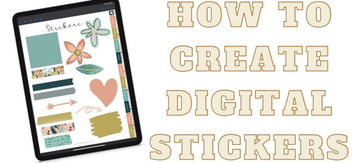 how to create digital stickers